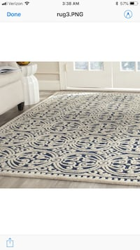 Hand Tufted Wool Rug 7ft by 9ft San Francisco, 94133