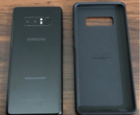 black Samsung Galaxy Note 8 with box null