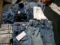 four blue denim jeans and shorts Cosby, 37722