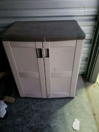 white and black wooden cabinet Sioux Falls, 57107