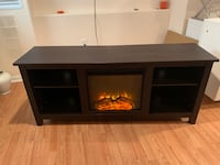 Black wooden tv stand with fireplace New York, 10465