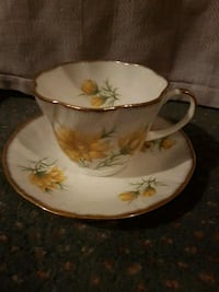 white and yellow floral ceramic teacup and saucer Toronto, M1P 3G7
