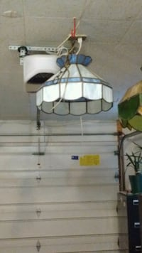 white and blue stained glass pendant lamp Fort Wayne, 46819