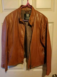 Women's brown Lamb skin leather jacket size Large  Red Deer, T4R 3G1