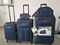Brand New 5pcs Navy Softcover Luggage Suitcases Set  Toronto, M3J 2W6