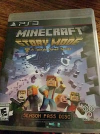 Minecraft Story Mode PS3 game case Calgary, T2Y 1H4