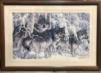 Beautifully framed wolf picture Edmonton, T5A