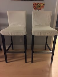 Four bar height chairs, great condition