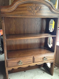Bookcase / hutch / wood / heavy - 30 x 12 x 46.5 tall