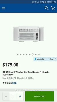 white Haier window type air conditioner screenshot