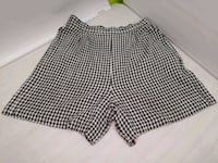 Black & White Checkered Woman's Shorts Mohawk, 37810