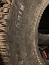 255/70R18 Winter Discoverer Cooper Jeep Wrangler 200$ Mont-Royal, H4P 1S1