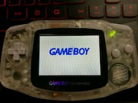 White Gameboy Advance Backlight Mod with Glass Scr Athens