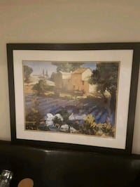 brown wooden framed painting of house Vaughan, L0J