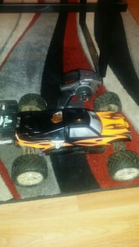 red and black RC car toy