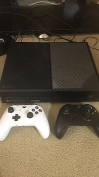 Black xbox one console with two controllers Surrey, V3R 8T9