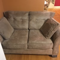 Gray suede 2-seat sofa chair Baltimore, 21215