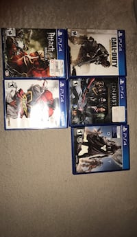 four assorted PS4 game cases Germantown, 20876