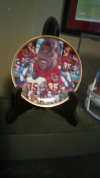round collage photo of Christian Okoye plate Independence, 64050