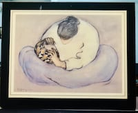 """R.C. Gorman """"WOMEN WITH BOWL"""" From an Original and Signed. Laminated. Los Angeles, 90041"""
