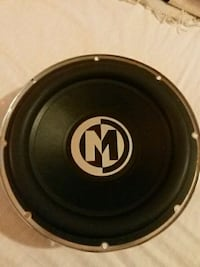 black and gray Memphis Audio subwoofer Langley, V3A 1M8
