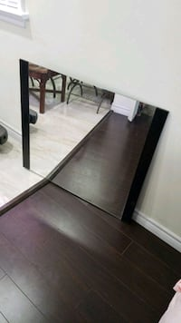 """36"""" by 32 """" mirror  with side frame and hungers"""