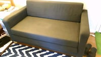 brown wooden framed gray padded sofa Fairfax, 22030