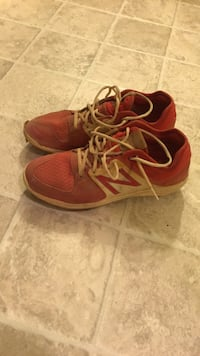 pair of red-and-white Nike running shoes Germantown, 20874