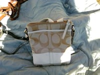 white and brown Coach leather crossbody bag Panama City, 32401