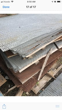 Galvanized expanded metal mash for sale $50 per sheet