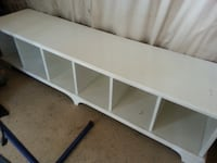 white, wood cubbies/bench - great for a kids playroom CUMMING