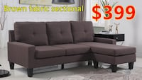 Brand new brown fabric sectional sofa warehouse sale  多伦多, M1W