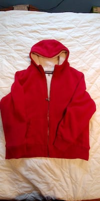 red and white zip-up hoodie Hagersville, N0A 1H0