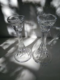Lenox Crystal - two matching candlestick holders.  Charlotte, 28227