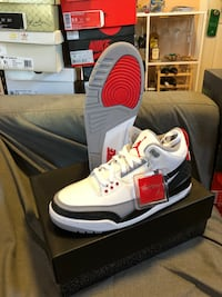 white-and-red Air Jordan 4 shoes tinker size 9.5 mens Oakland, 94606