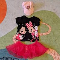 ADORABLE DISNEY MINNIE & MICKEY MOUSE OUTFIT