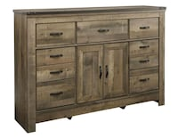 Trinell Brown Dresser wit Fireplace Option | B446  Houston