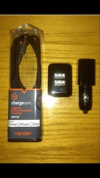 NEW IPHONE & IPAD CHARGER WITH DUAL USB BLOCK AND DUAL USB CAR CHARGER FOR SALE! Mississauga