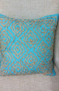 Supriya Turqoise Atlas Pillow - $85 Value! Toronto