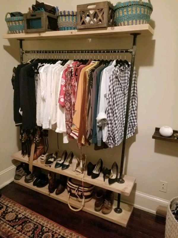 Handmade Industrial Hanging Clothes Racks