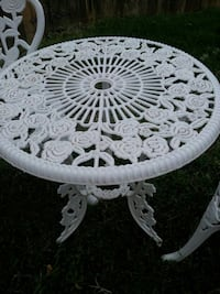 round white and black floral table Amarillo