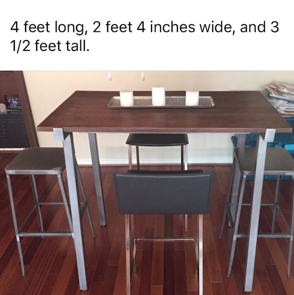 Used CB High Top Table For Sale In Houston Letgo - Cb2 high top table