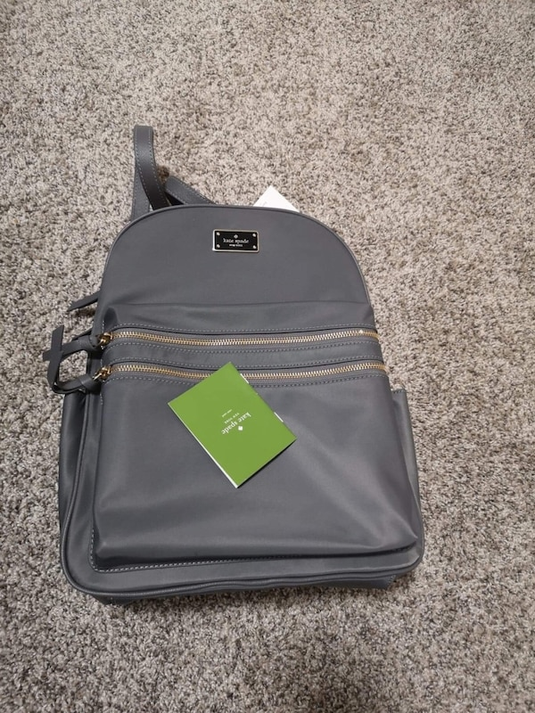 attractive price best sell shop best sellers Kate spade grey backpack
