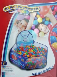4Ft Ball Pit Playpen Baby Toddler Kids Activity Pl