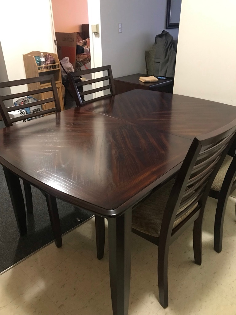 Used Butterfly Leaf Table With 6 Chairs For Sale In Chepachet   Letgo