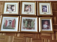 six assorted painting with brown wooden frames Montréal, H1E 4R1