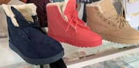 pair of red suede boots 47 km