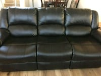 Like new black leather couches San Diego