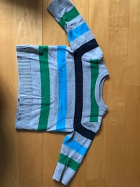 Two blue and green stripe textiles New York, 10024