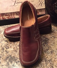 Hush Puppies brown leather loafers